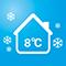 8°C Heating