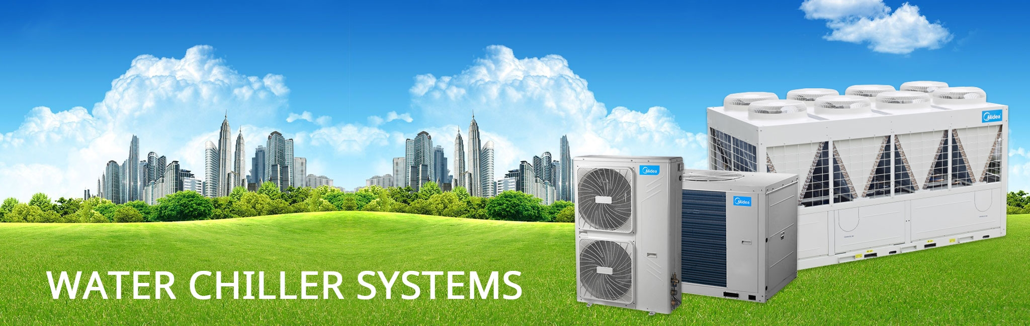 Choose economy and efficiency with Midea chiller systems.