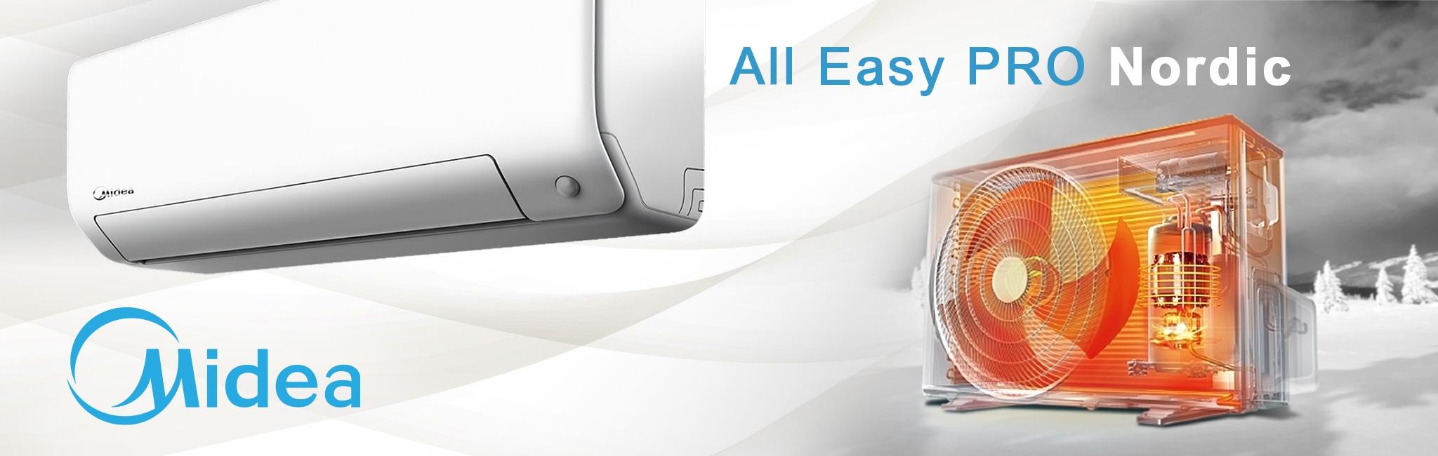 Изберете инверторни климатици All Easy Pro Nordic за климатизация на вашия дом.